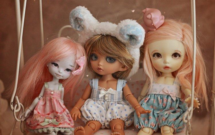 игрушки, качели, куклы, toys, swing, doll