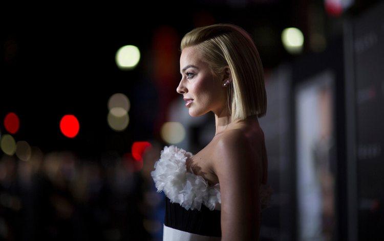 blonde, profile, actress, margot robbie