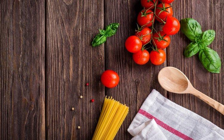 зелень, кухня, овощи, салфетка, помидоры, макаронные изделия, greens, kitchen, vegetables, napkin, tomatoes, pasta