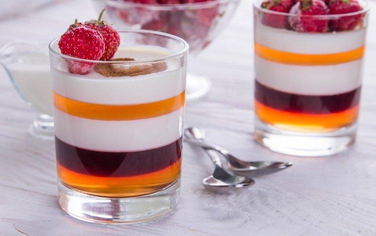 клубника, шоколад, сладкое, десерт, желе, панна-котта, панна котта, strawberry, chocolate, sweet, dessert, jelly, panna cotta