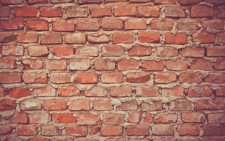 кирпичная стена, brick wall