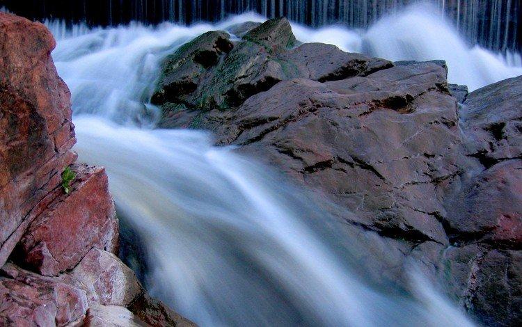 горная река, mountain river