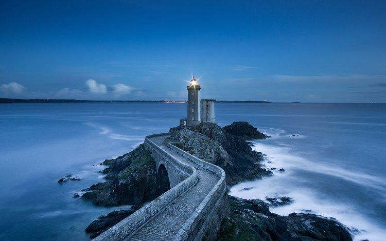 пейзаж, море, маяк, мост, ландшафт, landscape, sea, lighthouse, bridge