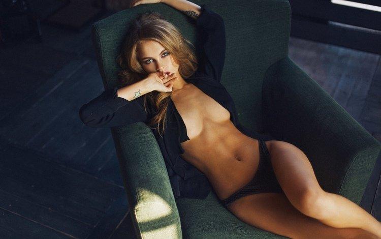 девушка, модель, тату, позирует, в белье, girl, model, tattoo, posing, in lingerie
