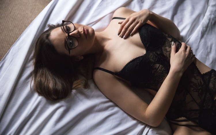 model, posing, in lingerie