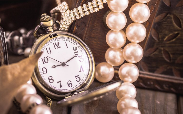 decoration, watch, pearl