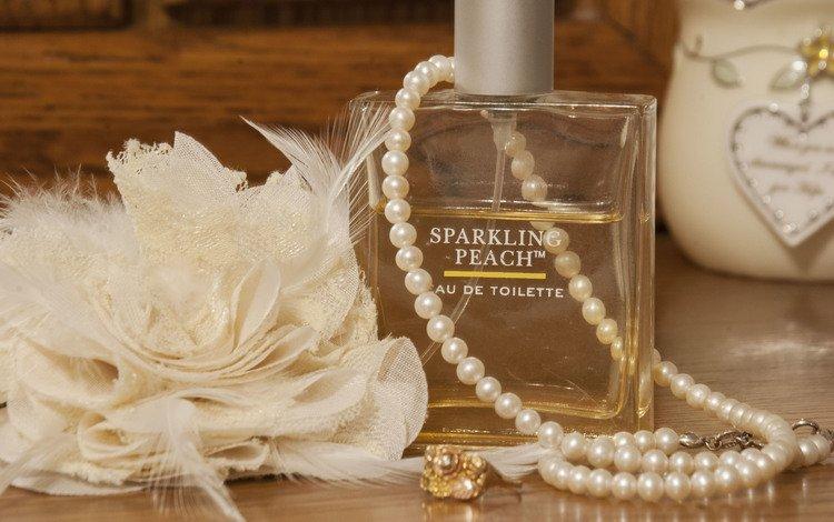 vintage, pearl, perfume, bottle