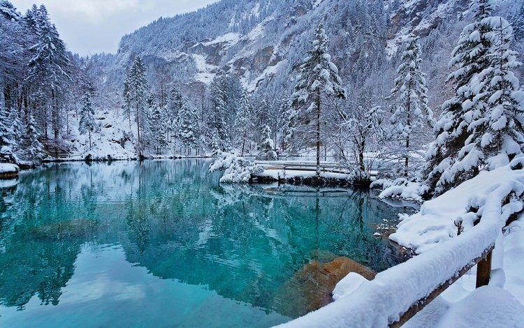 озеро, снег, природа, лес, зима, пейзаж, lake, snow, nature, forest, winter, landscape