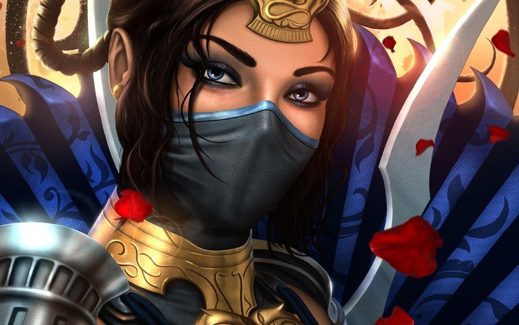 art, look, mortal kombat, kitana