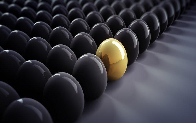 graphics, eggs, gold, black, 3d