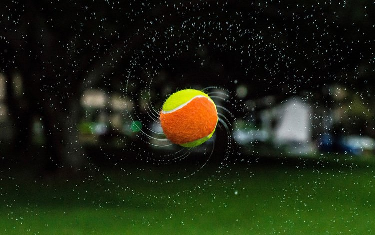 water, nature, background, drops, the ball, tennis
