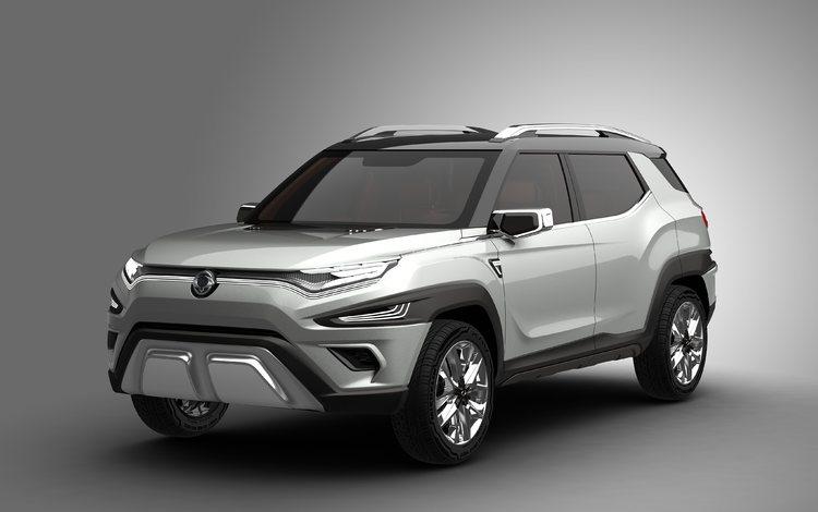 автомобиль, concept, внедорожник, на альпийские, ssangyong xavl, car, suv, alpine