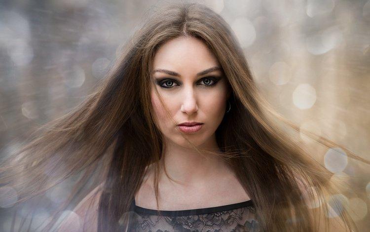 девушка, портрет, взгляд, модель, волосы, ainara salmeron, girl, portrait, look, model, hair