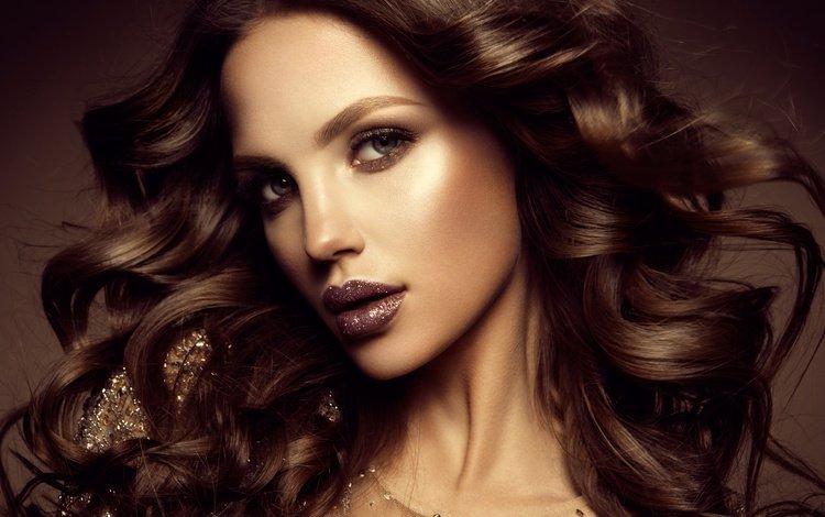девушка, взгляд, модель, волосы, макияж, прическа, помада, girl, look, model, hair, makeup, hairstyle, lipstick