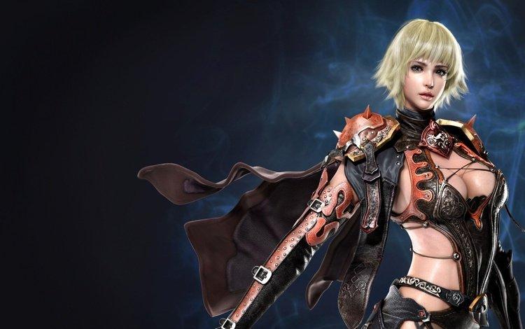 background, blonde, look, armor