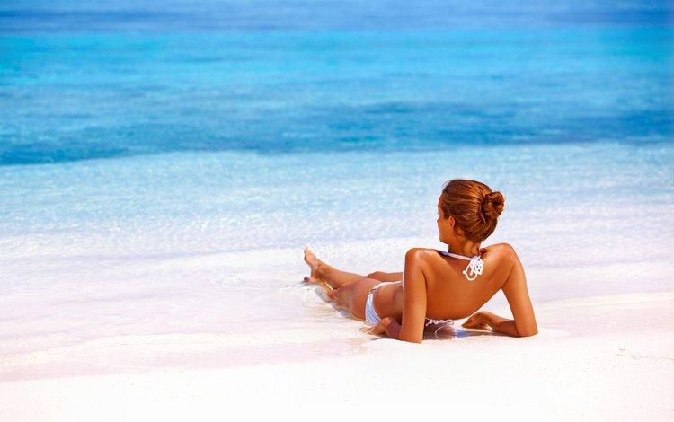 девушка, пляж, лето, модель, отдых, бикини, girl, beach, summer, model, stay, bikini