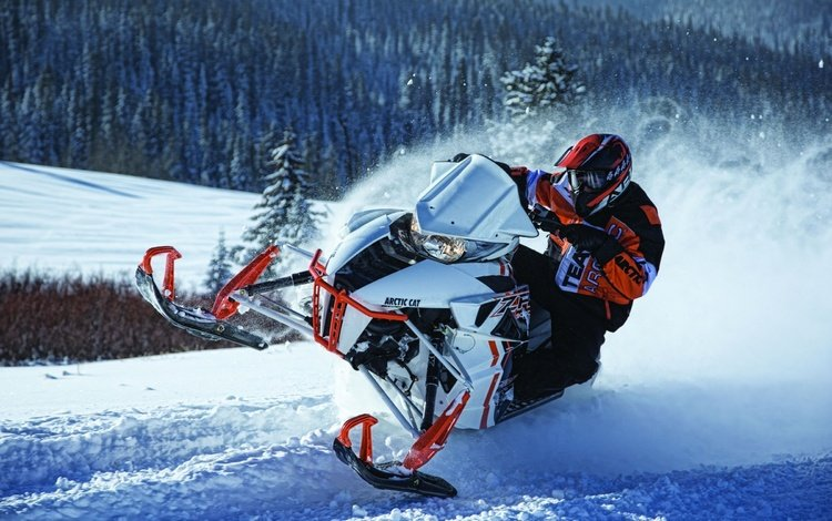 snow, nature, winter, sport, extreme, snowmobile