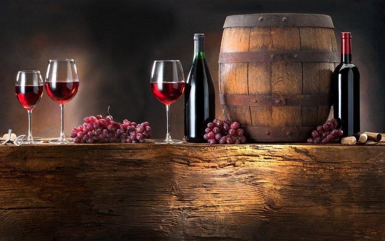 виноград, вино, баррель, grapes, wine, barrel