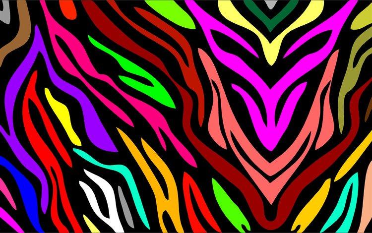 абстракция, узор, радуга, графика, abstraction, pattern, rainbow, graphics
