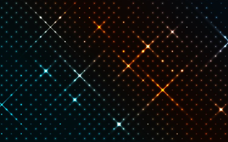 abstraction, line, design, background, stars, shine, squares, point