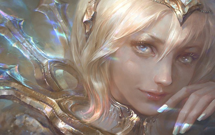art, girl, fantasy, league of legends, elementalist lux