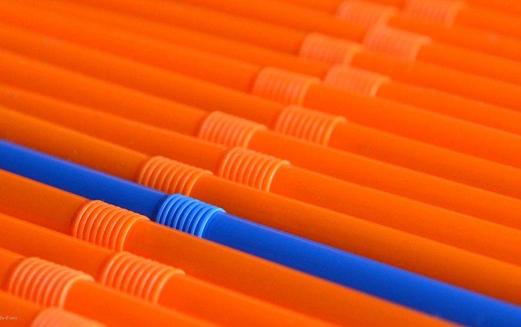 синий, оранжевый, коктейль, трубочки, соломка, blue, orange, cocktail, tube, straws