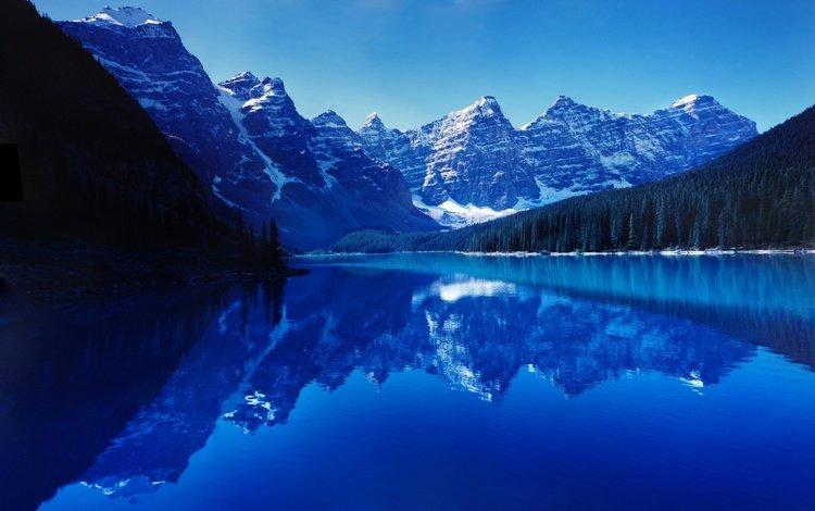 озеро, горы, природа, отражение, пейзаж, lake, mountains, nature, reflection, landscape