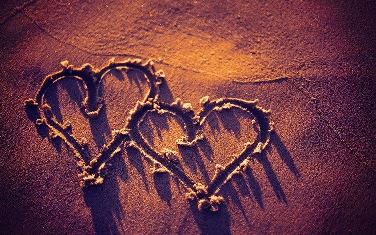 текстура, песок, пляж, сердца, сердечки, texture, sand, beach, heart, hearts