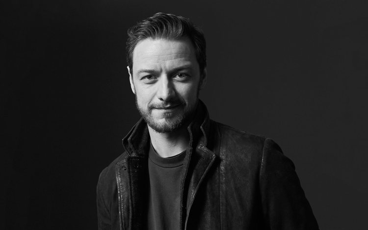 look, black and white, actor, face, james mcavoy