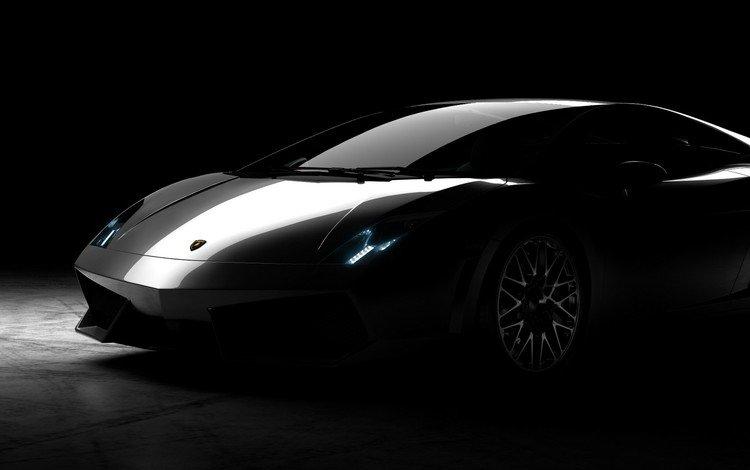 auto, black background, lamborghini, lamborghini gallardo