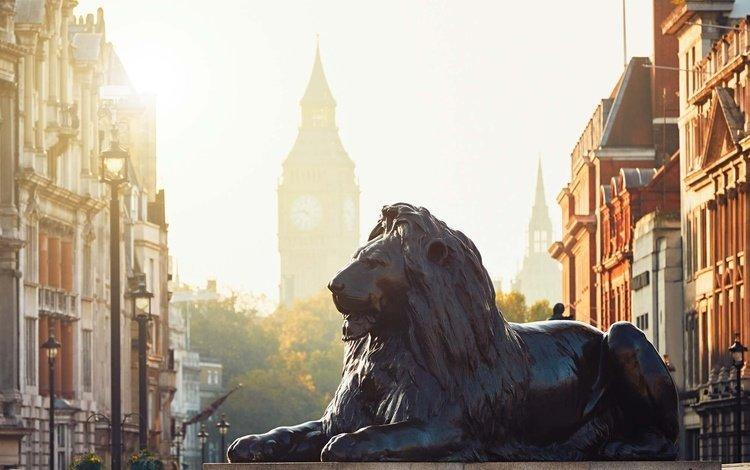 light, london, the city, street, england, monument, leo, big ben