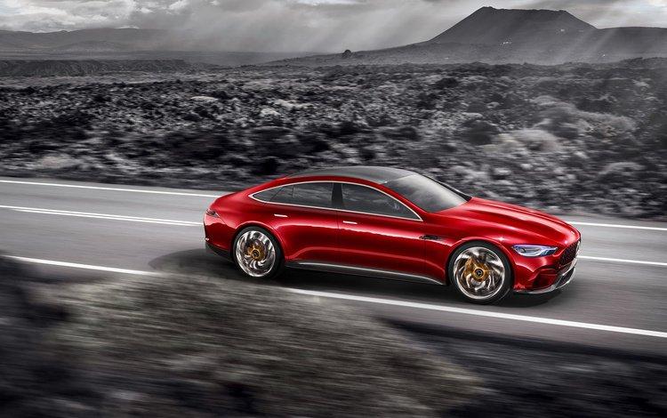 concept, cars, mercedes-benz, mercedes, speed, road, amg gt