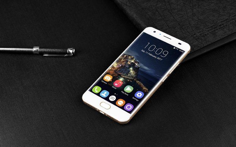 black background, smartphone, oukitel