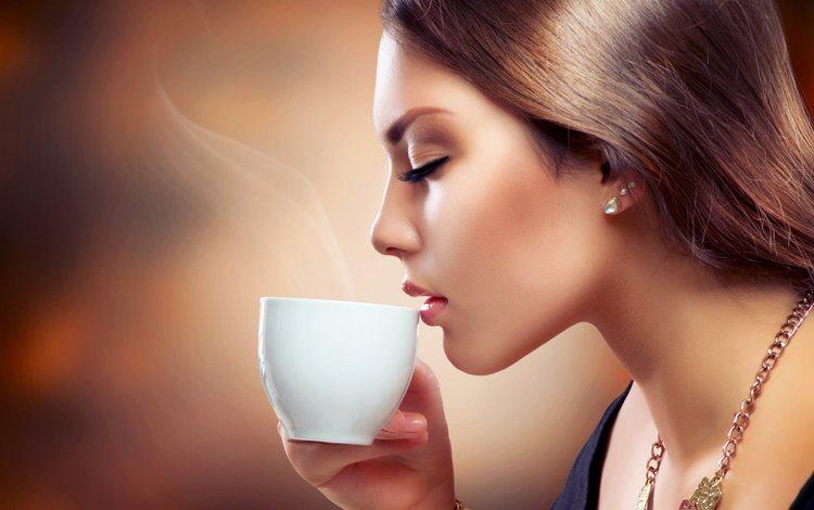 украшение, девушка, закрытые глаза, портрет, анна субботина, кофе, аромат кофе, модель, профиль, волосы, лицо, чашка, decoration, girl, closed eyes, portrait, anna subbotina, coffee, model, profile, hair, face, cup
