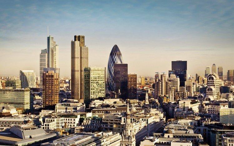 панорама, кэнэри-уорф, великобритания, лондон, город, небоскребы, дома, англия, здания, panorama, canary wharf, uk, london, the city, skyscrapers, home, england, building