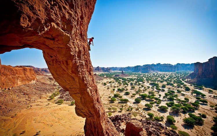 rocks, nature, rock, canyon, people, height, sport, climbing