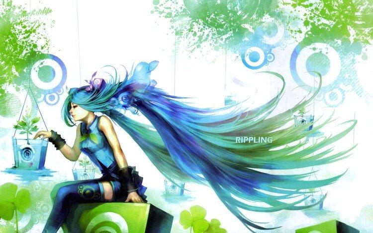 girl, anime, vocaloid, hatsune miku