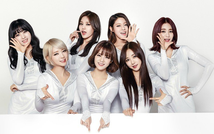 smile, look, girls, hair, asian girls, k-pop, aoa, chanmi, choa, hyejeong, jimin, mina, seolhyun, yuna