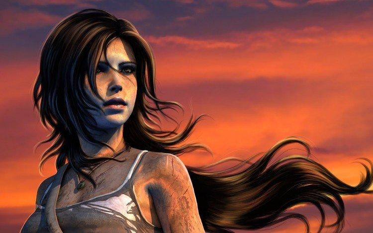 art, girl, face, lara croft, tomb raider