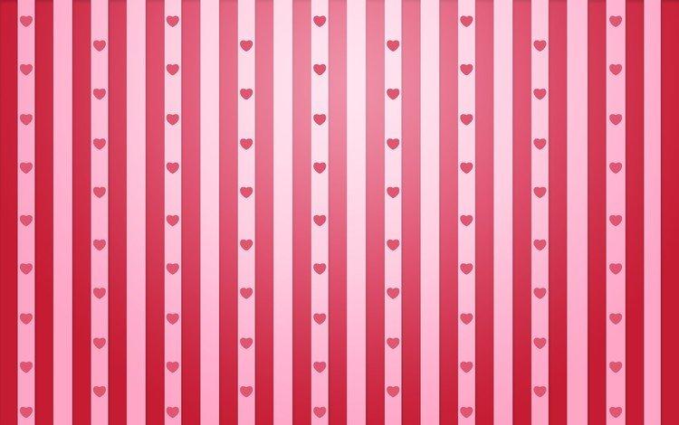 strip, line, background, pattern, hearts