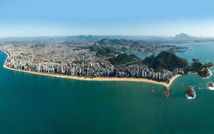 the city, brazil, port, vila velha, espírito santo, vitoria