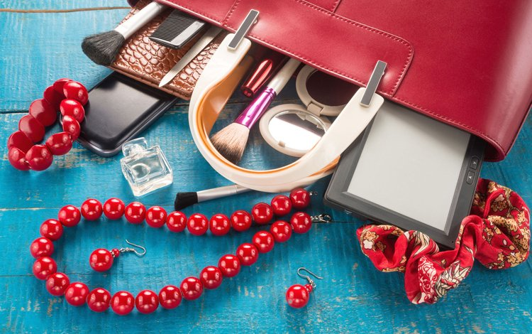 decoration, bracelet, earrings, cosmetics, bag, women's stuff, accessories, coral necklace