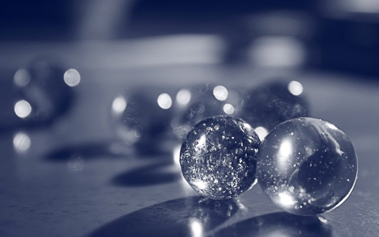 balls, reflection, marbles