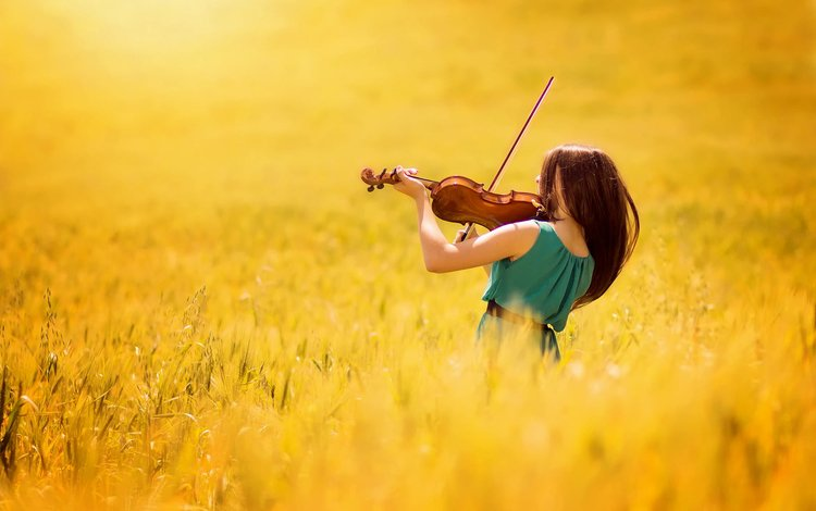 девушка, поле, скрипка, музыка, arif atlı, girl, field, violin, music
