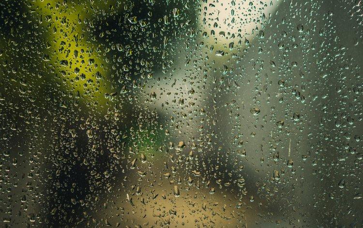 water, macro, drops, rain, glass