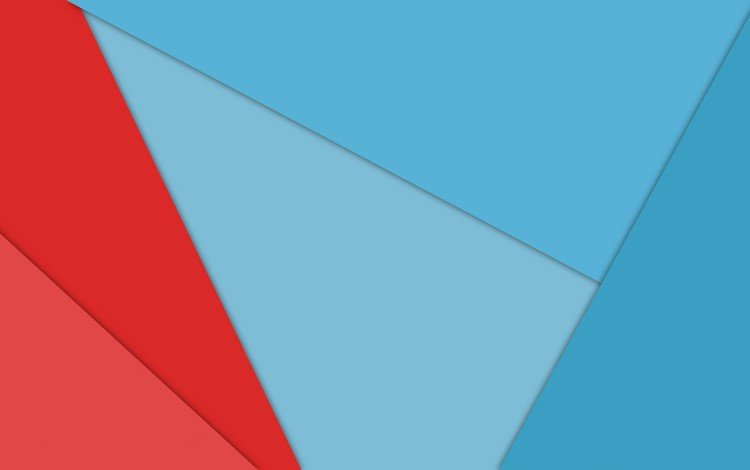 abstraction, line, red, blue, geometry
