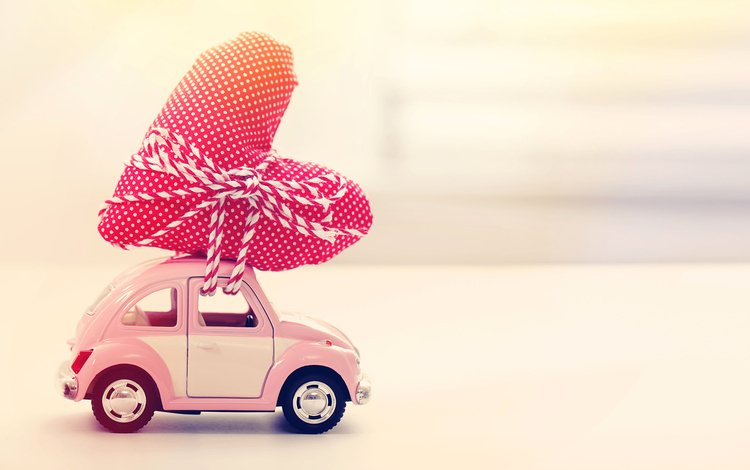 сердечко, игрушка, сердце, подарок, автомобиль, машинка, heart, toy, gift, car, machine