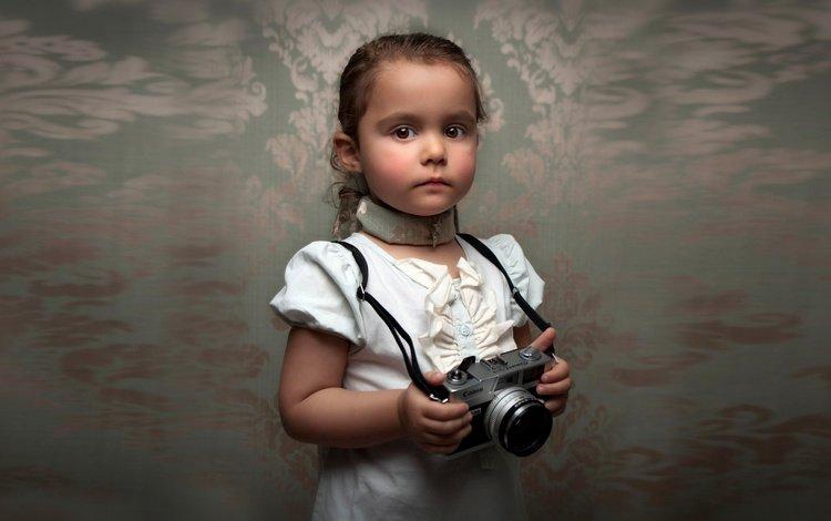 portrait, look, face, child, camera, blur, girl, bill gekas