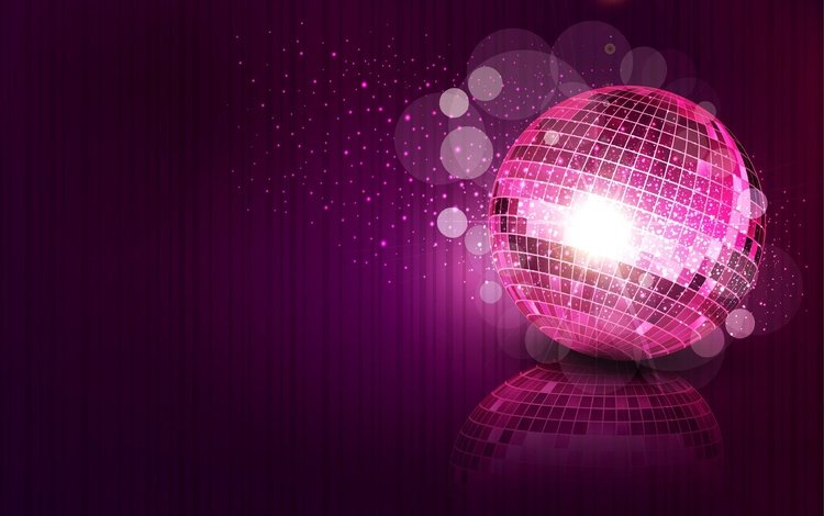 reflection, background, vector, ball, sparks, sequins, disco ball