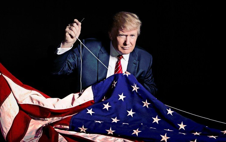 flag, usa, policy, president, donald trump